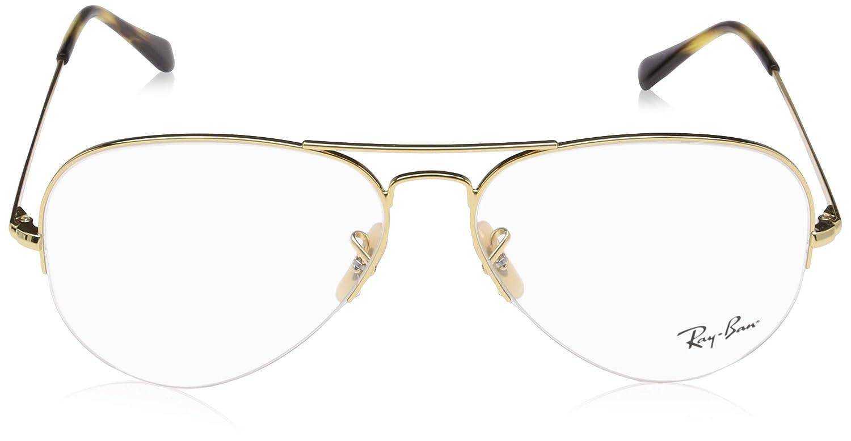 95ea2c6da2 Amazon.com  Ray-Ban Unisex RX6589 Eyeglasses Gold 59mm  Clothing