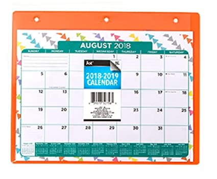 amazon com 2018 2019 monthly planner calendar in plastic sleeve