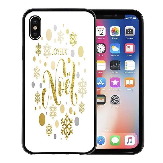Joyeux Noel Apple.Amazon Com Emvency Phone Case For Apple Iphone Xs Case