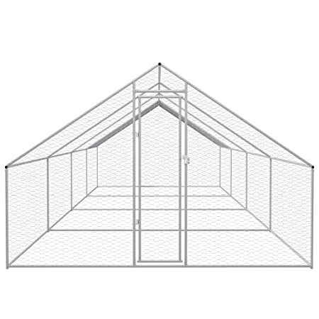 Xinglieu Jaula para Pollos de Exterior de Acero galvanizado 3 x 8 ...