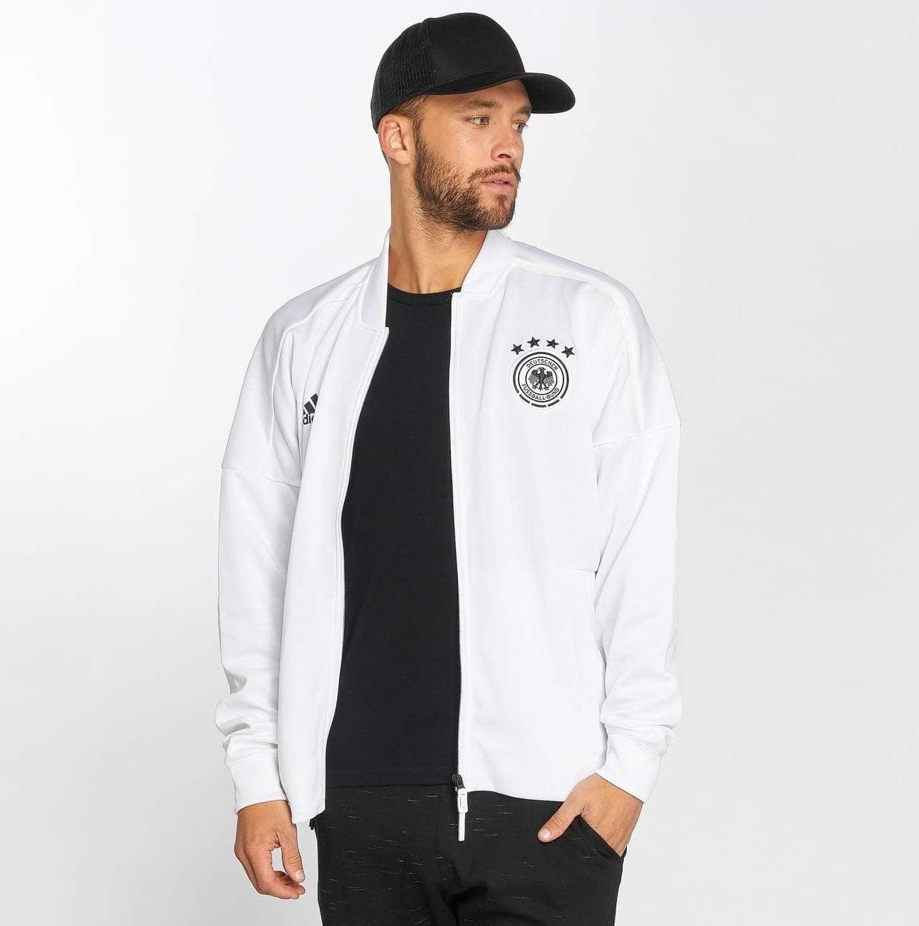 adidas Herren DFB Zone Jacket Knitted Trainingsjacke CF2452