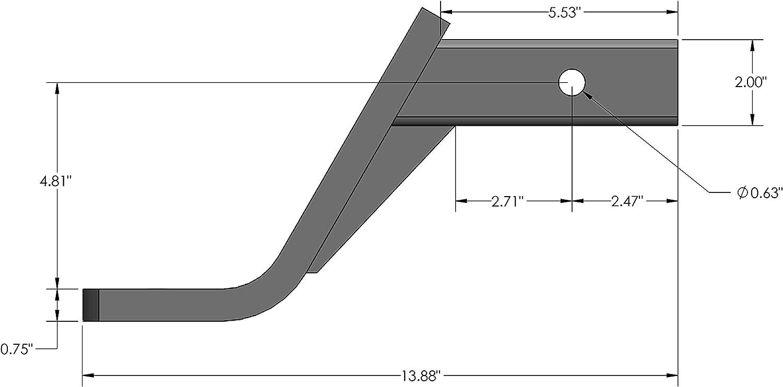 Gloss Black Powder-Coat Finish Quick Products QP-HS2807 Trailer Ball Mount Class III-6 Drop, 4 Rise-5000 lbs.