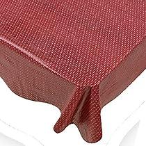 Claret Dash Print Indoor/Outdoor Vinyl Flannel Backed Tablecloth - 70 Round