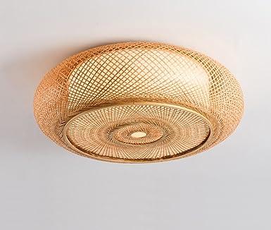 DFHHG® Japanischen Deckenleuchten, Südostasien ländlichen Bambus Rattan  Wohnzimmer Schlafzimmer Restaurant Lichter Kreative chinesischen Stil Tee  Raum ...