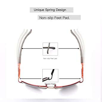 HDCRAFTER Polarized Sunglasses for Men UV400 Protection Lenses Metal Frame