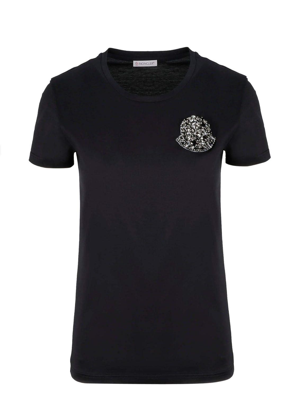 Moncler Men's 80515008390X999 Black Cotton TShirt