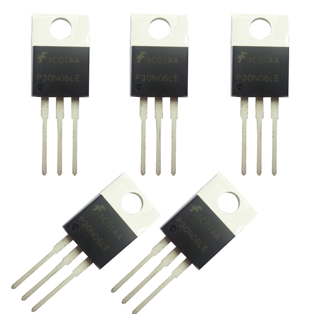 Jekewin N-Channel Power Mosfet - 30A 60V P30N06LE RFP30N06LE TO-220 ESD Rated Pack of 5