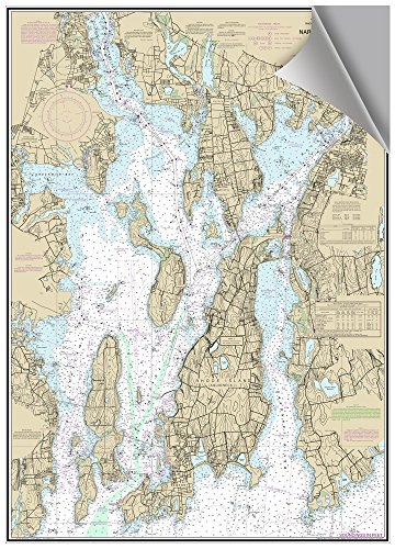 MAPTECH Narragansett Bay, RI Decorative Nautical Chart