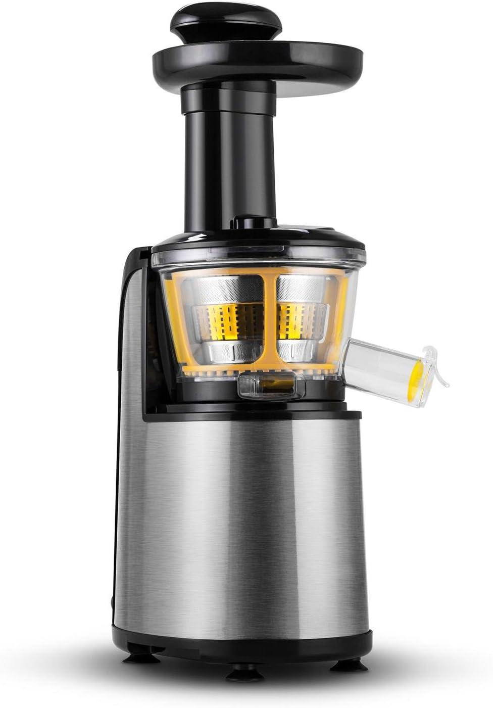 Klarstein Fruitpresso Nero II Licuadora vertical Slow acero ...
