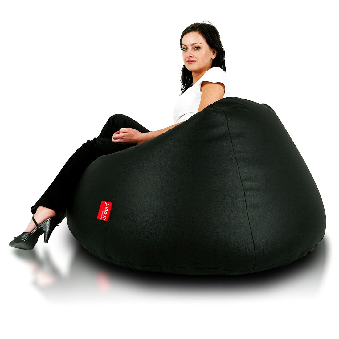 Turbo BeanBags Relax Bean Bag Chair, Large, Black
