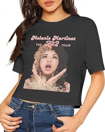 Melanie Martinez Camisa Blusa de Manga Corta para Mujer Dew Navel Camiseta Crop Top Slub Cotton: Amazon.es: Ropa y accesorios