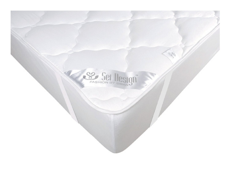 Sei Design protector de colchón Premium Extra Soft 140x200 cm. El acolchado doble hace que la parte inferior sea más suave y transpirable, la protección ...