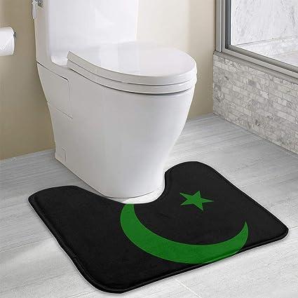 colory Symbols of Islam Toilet Carpet Anti-Slip Contour Bath Rug Carpet Mat  for Toilet 19 2