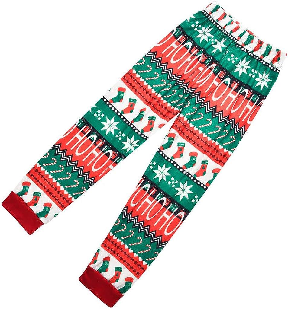 Pigiama Famiglia Natale Ho Ho Ho 2PCS Top Pantaloni Completo Pigiami Donna Uomo Natalizi Vestiti di Bambini Ragazzi Mamma pap/à Caldo Abbigliamento Natale Costume per Casa