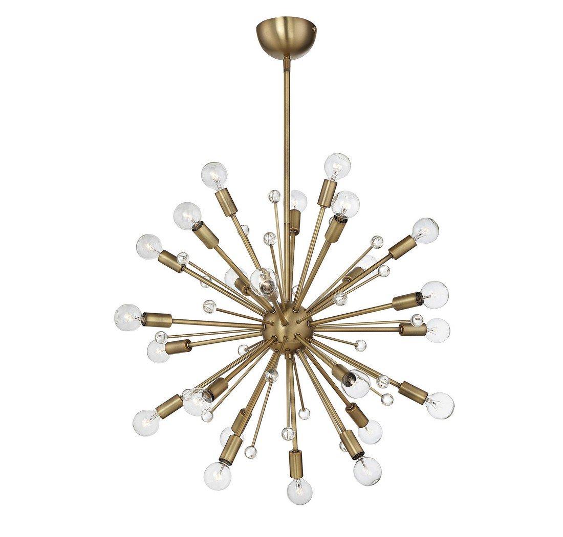 Savoy House Galea 24 Light Chandelier 7 6099 322 Sputnik Warm Brass Com