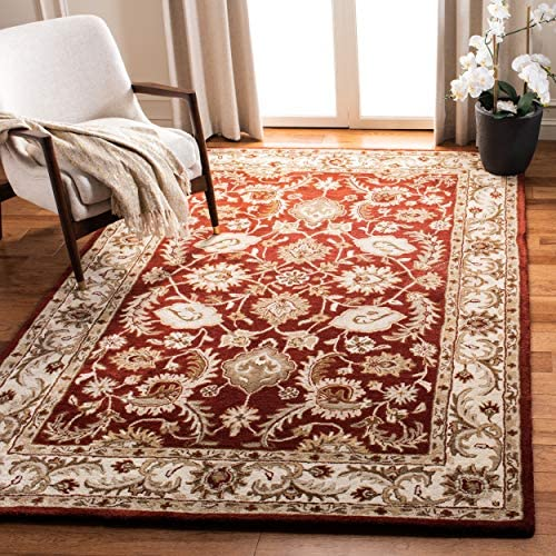 Safavieh Royalty Collection ROY244B Handmade Traditional Red and Ivory Wool Area Rug 8' x 10'