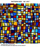 faux stained glass patterns Windowpix 12 x 60 Symphony Stained Glass Pattern Window Film Static Cling Film UV Filtering Energy Saving