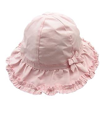 a5478cf6b93a Sumolux Bonnet Chapeau de Soleil Chapeau de Plage Anti UV en Coton Rose  Mignon Pour Enfant