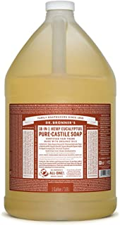 product image for Dr. Bronner's - Pure-Castile Liquid Soap (Eucalyptus, 1 Gallon) - Made with Organic Oils, 18-in-1 Uses: Face, Body, Hair, Laundry, Pets and Dishes, Concentrated, Vegan, Non-GMO