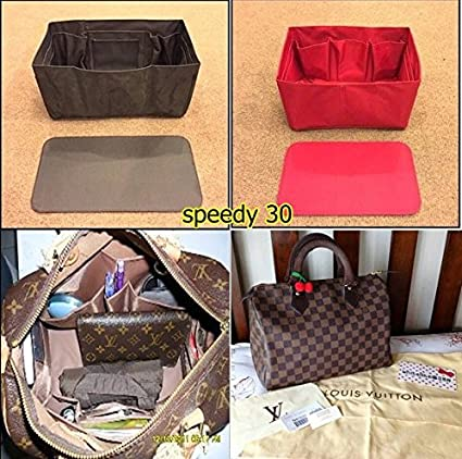 4f5d4ea878a Amazon.com  Purse Organizer Insert for Fits lv SPEEDY 30 Bag organizer  insert lv speedy brown color (Not included Bag)  Electronics