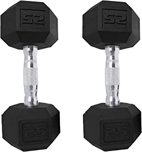 Saorzon Dumbbells Set of 2 Exercise & Fitness Dumbbell for Home Gym Free Weights Hand Hex Dumb Bells 5 8 10 12 15 20 25 30 35 LB