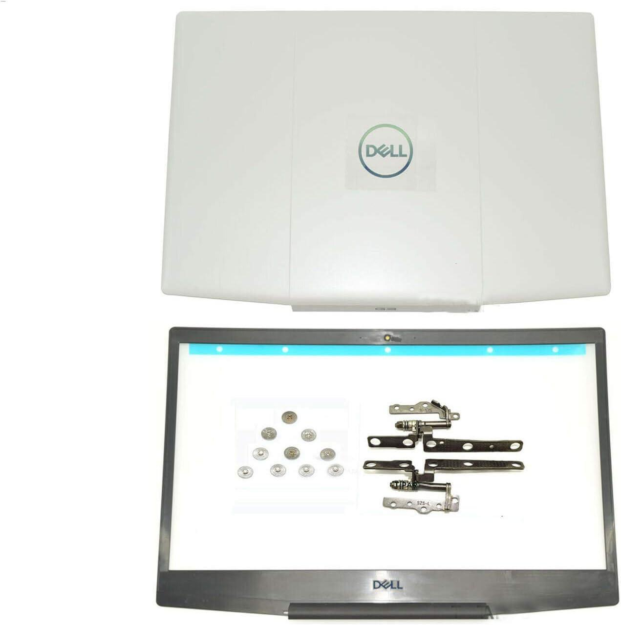 NODRLIN New for Dell Inspiron G3 15 3590 LCD Rear Back Cover & Bezel & Hinge & Screws White 03HKFN 3HKFN, 03HKFN 3HKFN 07MD2F 7MD2F