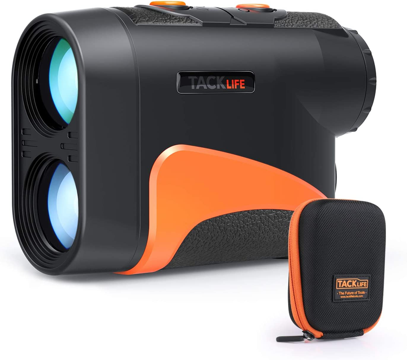 TACKLIFE Golf Rangefinder with Slope Pin Range Scanning Model, Laser Range Finder 6X with Wrist Strap, Carrying Bag for Golf Training, Competition, Hunting – MLR04