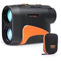 Golf Rangefinder, Laser Range Finder 660 Yard/6X with Slope/Pin/Range/Scanning Model, Wrist Strap, Carrying Bag for Golf Training, Competition - MLR04