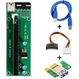XCSOURCE PCI-E 1X to 16X Mining Machine Enhanced Extender Riser Card Adapter with 60cm USB 3.0 Power Cable AC330