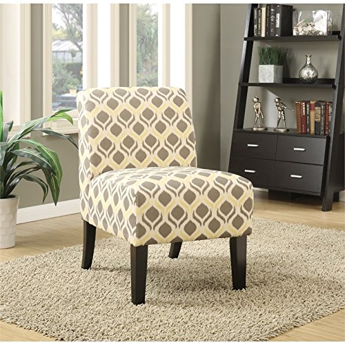 BOWERY HILL Accent Chair in Gray and Yellow (Chair And Accent Yellow Gray)