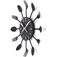 Reloj de cocina efecto espejo con diseño