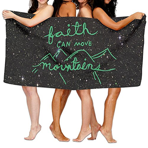 Faith Can Move Mountains 100% Polyester Velvet Absorbent Towels 31 X 51 Inches by JYDPROV