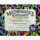 Mathematics Achievement Certificate - Glossy Paper - Quantity 150