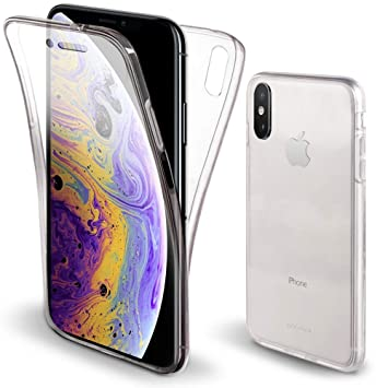 coque 360 degres iphone xs max transparente