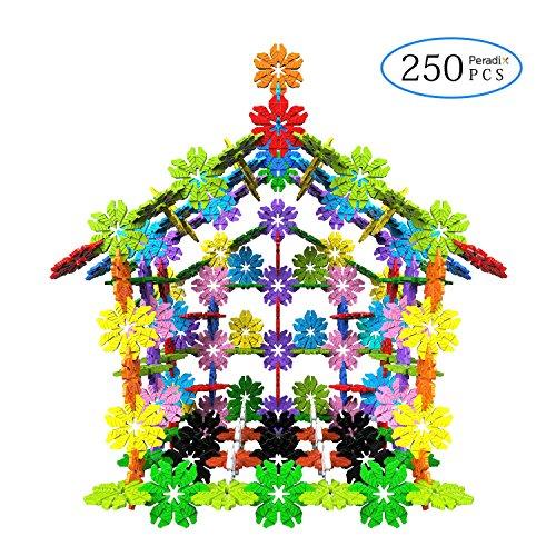 Peradix Brainflakes Building Toys Snow Flakes Interlocking Blocks Set for Brain Educational Puzzle Games 250 PCS