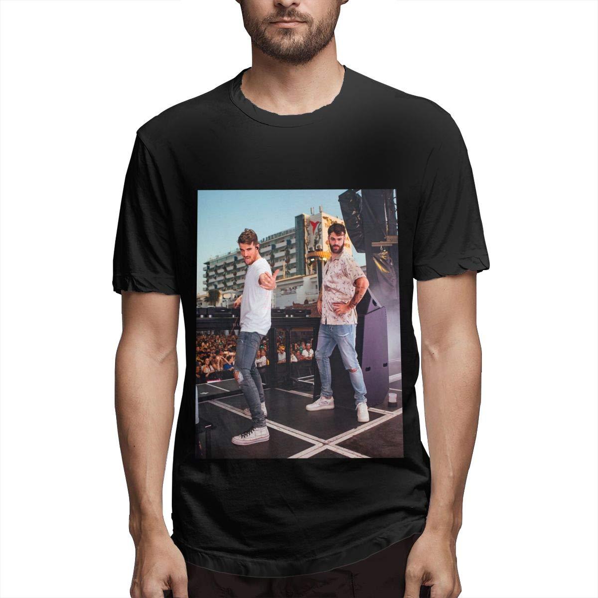 Lihehen S The Chainsmokers Retro Printing Round Neck T Shirt