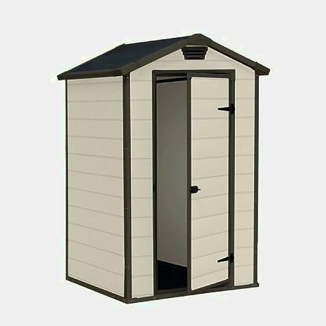 STS SUPPLIES LTD Caja de plástico para cobertizo de jardín (tamaño pequeño, con cerradura
