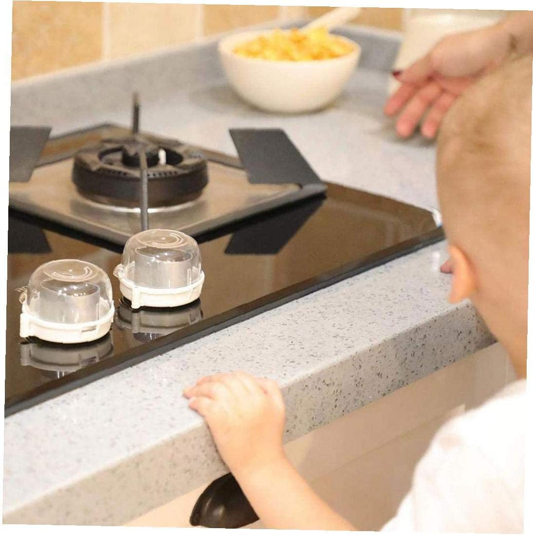 Kitchen Gas Stove Knob Covers 6PCS Kitchen Transparent Gas Stove Knob Covers Oven Knobs Protector Child Safety Locks Gas Cooker Switch Protective Cover for Children