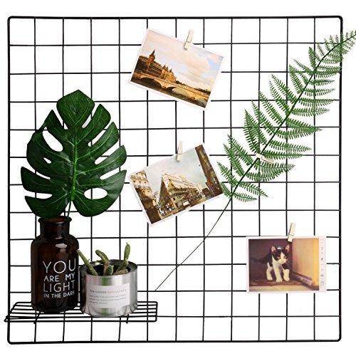 Metal Wire Art (Hosal Multifunction Grid Panel,Wall Decor/ Photo Wall/ Wall Art Display/ Organizer, Size:23.6