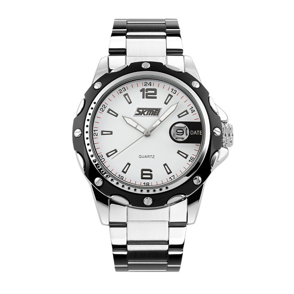 Amazon.com: TONSHEN Mens Classic Quartz Analog Watch Business Casual Fashion Wristwatch, Black Stainless Steel Case Calendar Date Window, ...
