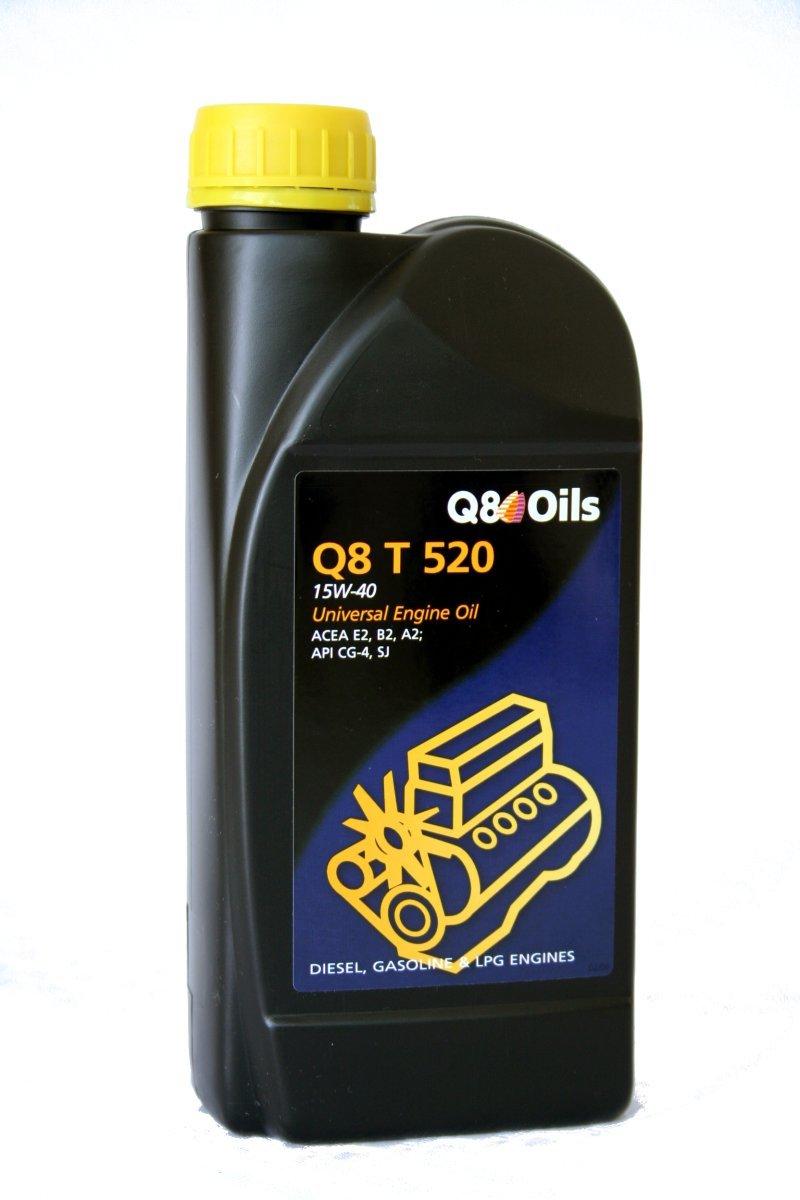 Q8 Bidon 1 litre d'huile moteur T 520 15W40 Ré f. 101155801763