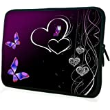 """WATERFLY Womens 15"""" 15.4"""" 15.6"""" Inch Laptop Bag Notebook Computer Netbook Soft Neoprene Sleeve Bag Case Cover Pouch Holder for Apple Macbook Pro 15 Macbook Air 15 Dell Precision M3800 HP 15-r029wm TOSHIBA Satellite A100-165 Dell XPS X15Z And Most 15"""" 15.4"""" 15.6"""" Inch Laptop Bag Ultrabook Chromebook Laptop Notebook"""