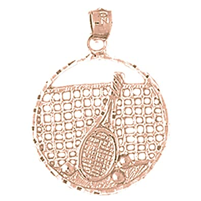 Rhodium-plated 925 Silver Tennis Racquets Pendant with 18 Necklace Jewels Obsession Tennis Racquets Necklace