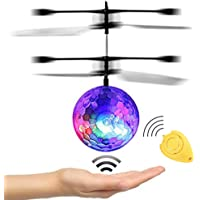 JAMSWALL RC Flying Ball, Flying Kid Toy with Remote Control, Infrared Induction Helicopter Ball Drone with Colorful Shinning LED Lights, Ideal Gift for Boys Girls Kids Children