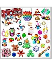 iSayhong Fidget Pack Adventskalender 2021, Kerst Countdown Kalender Fidget Toys Set Pack, Fidget Box Surprise Gifts voor Party Favor, Adventskalender 03, Eén maat