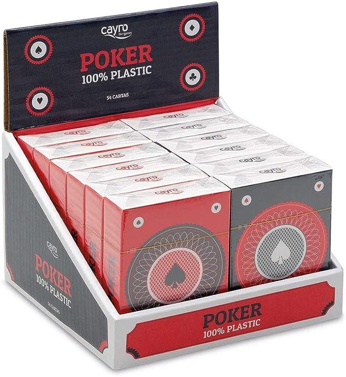 Cayro - Baraja Poker 100% plástico - Juego Tradicional - Juego de ...