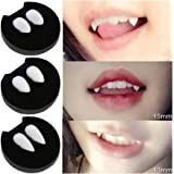 Lalang Vampire Fangs Halloween Role Playing VampireTeeth, Adhesive are Not Included (13mm)