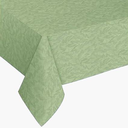 Sonoma Vinyl Tablecloth   70u0026quot; Round Sage