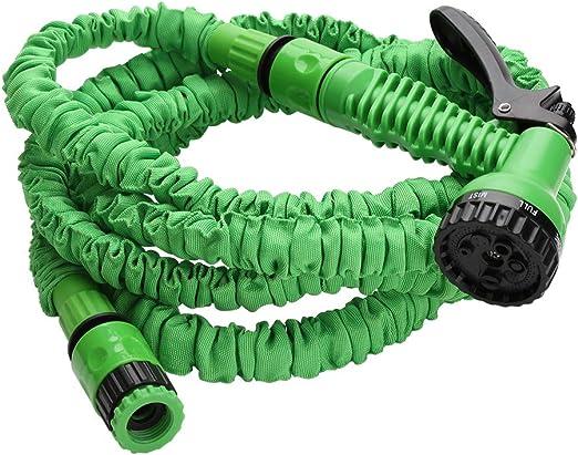 Hengda Manguera de Jardín Flexible Manguera de Agua con 7 Función Ducha de Mano Manguera Flexible para Jardín Riego Autowaschanlage, Limpieza: Amazon.es: Jardín