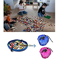 60 Inch Pink Portable Kids Children Infant Baby Nursery Play Mat Large Storage Sand Bags Toys Organizer Blanket Rug Boxes for Lego Toys Bedroom